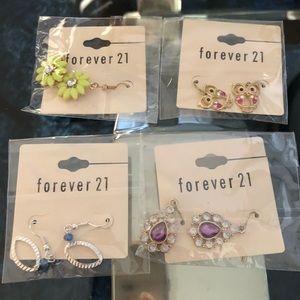 F21 4 pack earrings lot NEW